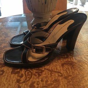 Sigerson Morrison Black Sandals 9.5 B NEW